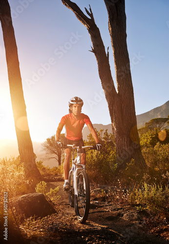 mountain bike athlete