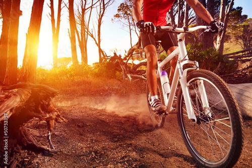 Poster mountain bike athlete