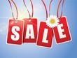 Sale Etiketten mit Blüte, Backlight