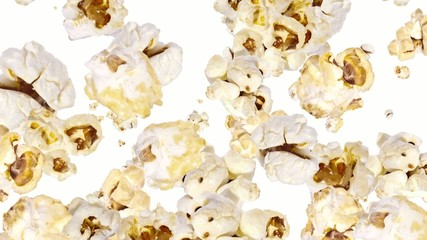 Falling Popcorn as background video (with Alpha)