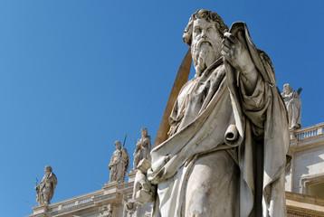 Paulus Statue mit Schwert Petersdom Rom - Saint Paul Rome
