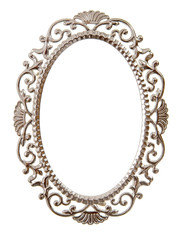 Oval ornate frame