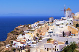 Picturesque view of the village of Oia, Santorini, Greece
