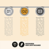 Modern Ribbon Workflow Options Banner - Vector Illustration - ca
