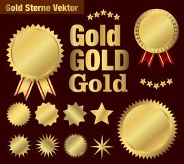 Goldsterne und Schleife