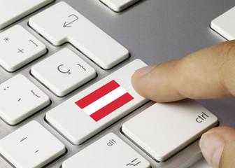 Österreich-Flagge. Tastatur