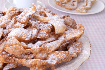 Traditional Polish carnival pastry called ' faworki'