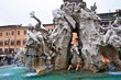 Roma, Piazza Navona - fontana dei quattro fiumi