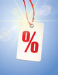 Prozente Etikett - Backlight