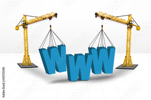 Internet building website concept