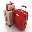 Suitcases isolated on white background