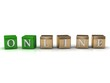 ONLINE of green and gold cubes