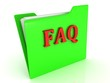 FAQ bright red letters