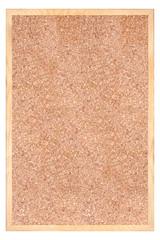 Tło tekstura z korka w drewnianej ramie.