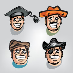 People's faces. Vector illustration