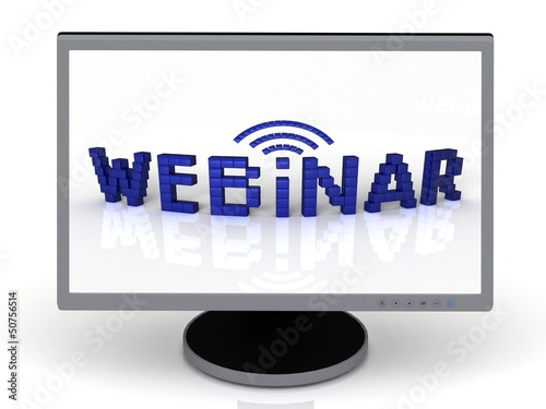 Webinar of blue cubes