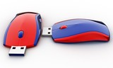 the flash drive in the form of the computer mouse poster