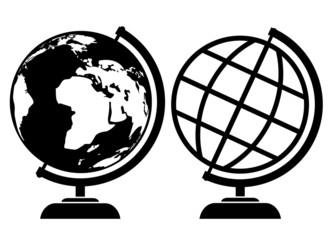 Vector terrestrial globe