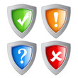 Vector security shields set