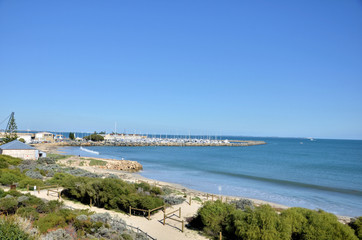 View of Fremantle Harbour and Coast