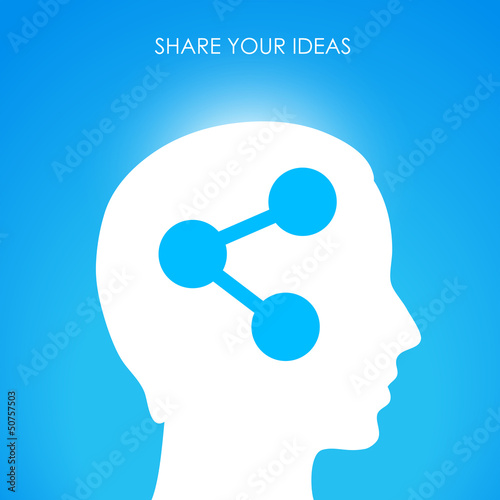 Share your ideas, vector illustration