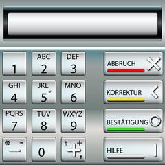 Geldautomat Tastatur