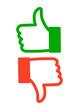 Voting Icons Daumen Hoch Runter Grün Rot