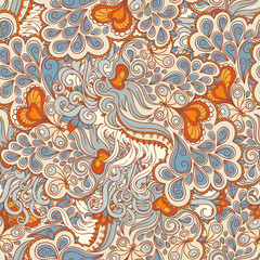 orange and blue pattern