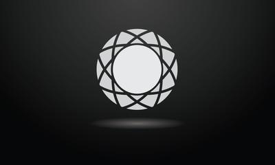 Concept Diamant gris blanc
