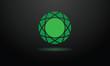 Concept Diamant vert Emeraude