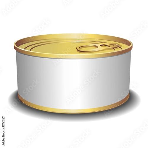 Alluminium Can Tin-Scatola di Conserva Alluminio-Vector