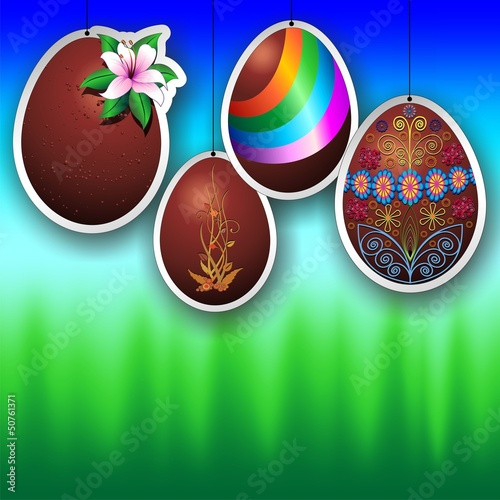 Chocolate Easter Eggs Ornaments-Uova Cioccolato decorazioni