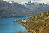 Fototapety Lago d'Orta Pettenasco & Punta Crabbia color image