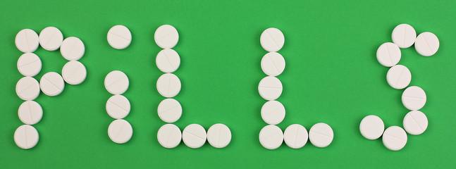 word pills made of pills