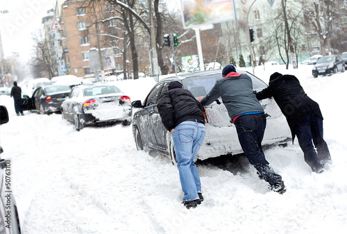 Сar stuck in the snow