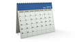 Folding 2012 Blue Desktop Calendar