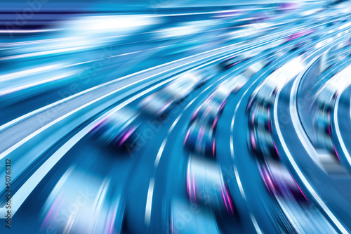 Leinwandbild Motiv autobahn