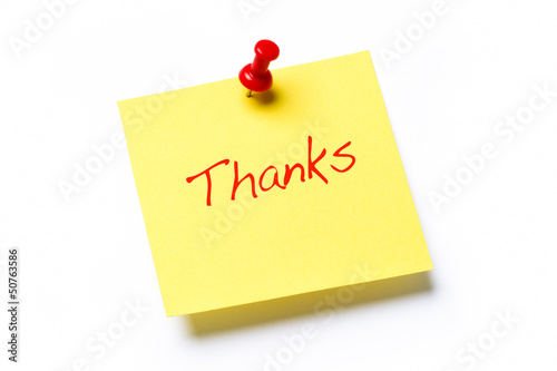 Thanks Note