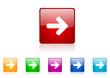 arrow right vector icon set