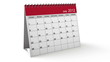 Folding 2012 Red Desktop Calendar