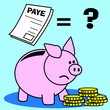 tirelire, argent, salaire, paye, monnaie, revenus, or