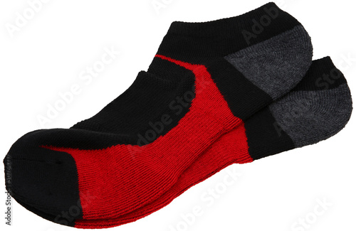 Pair Of Athletic Socks Over White