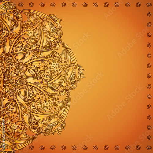 Indian henna background