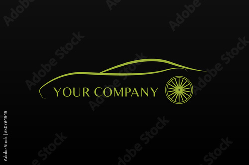 Green car logo