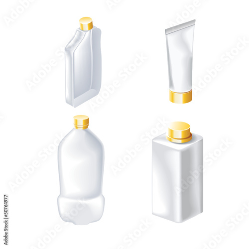 set of vector images of packing containers | Stock Vector