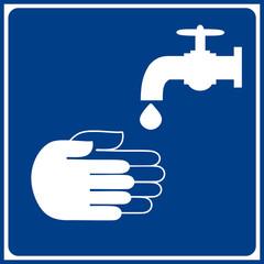 Señal de Obligación - Lavar Manos