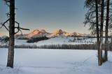 Fototapety Cross Country Ski trals on a frozen lake