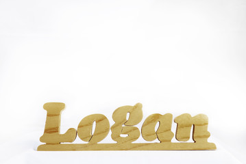Wooden Name Logan