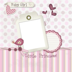 Baby Girl - Scrapbook - Place your photo and text