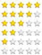 Fünf Sterne Bewertungssystem - Gold Grau